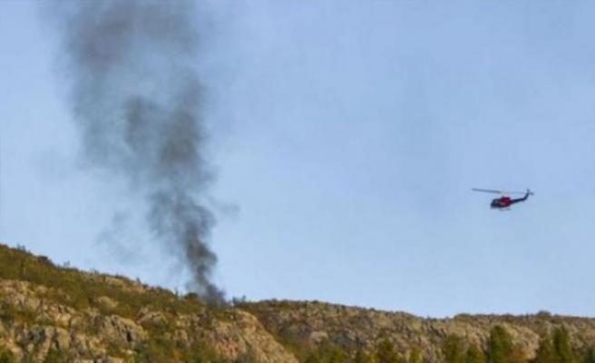 Helikopter düştü: 6 ölü