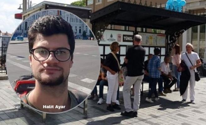 Taksim'de tramvay durağında oturan genci öldürdüler