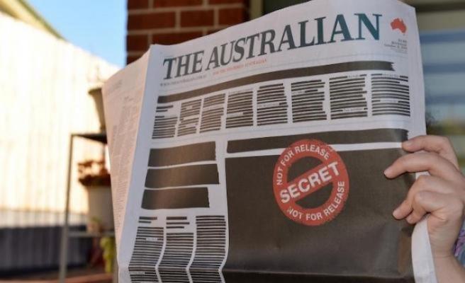 Avustralya'da gazeteler basın özgürlüğüne dikkat çekmek için sayfalarını kararttı