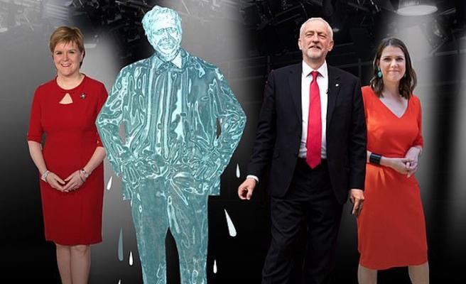 Başbakan televizyon programında eriyen buz blokuyla temsil edildi