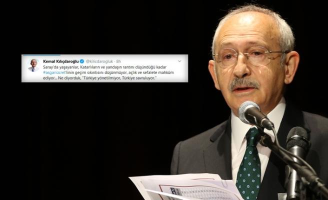 CHP Genel Başkanı Kılıçdaroğlu'nun 'asgari ücret' yorumu