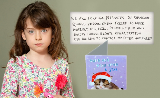 Çin zulmü bu defa Noel kartından çıktı!