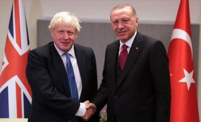 Erdoğan ile Johnson görüştü