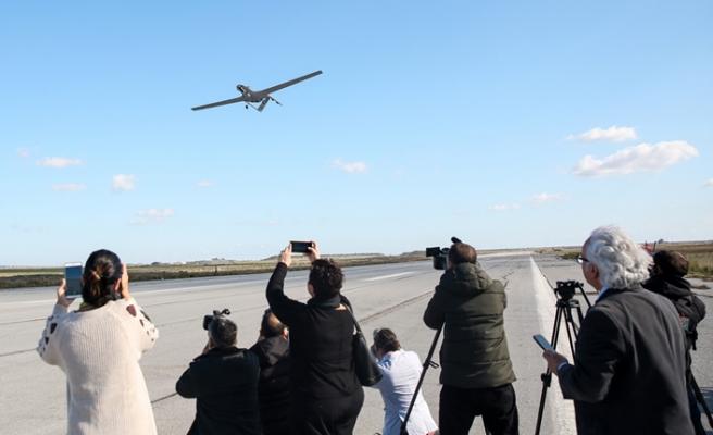 KKTC'den kalkan İHA Doğu Akdeniz'deki görev uçuşunda