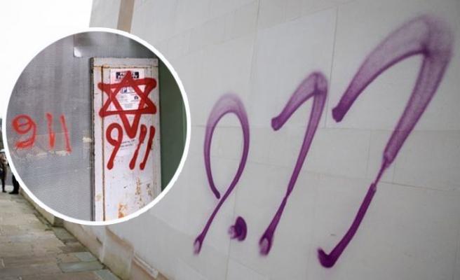 Londra'da Yahudi Düşmanı Graffitiler