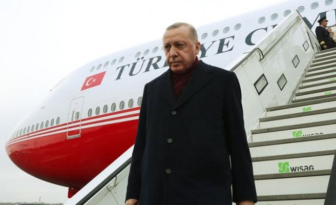 Erdoğan, Libya Zirvesi için Almanya'da