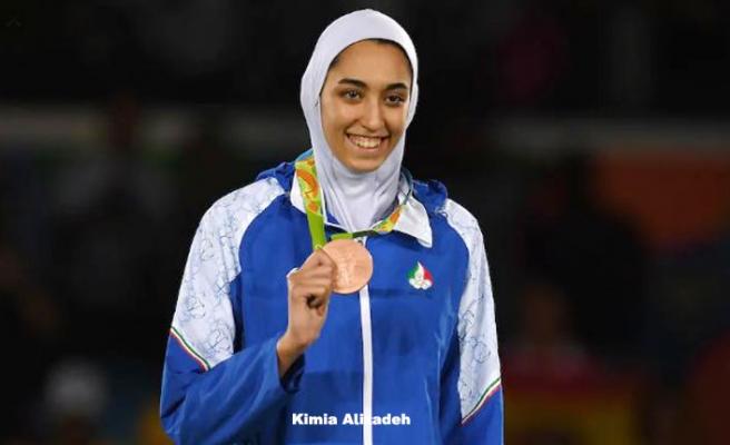 Olimpiyatlarda madalya kazanan tek kadın sporcu İran'ı terketti
