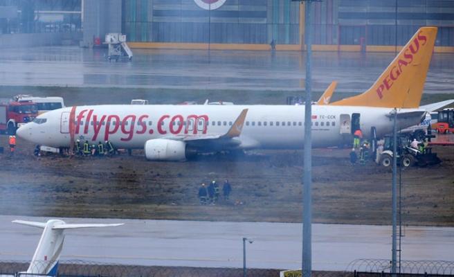 Uçak Pistten Çıktı, Sabiha Gökçen'de Uçuşlar Durduduruldu