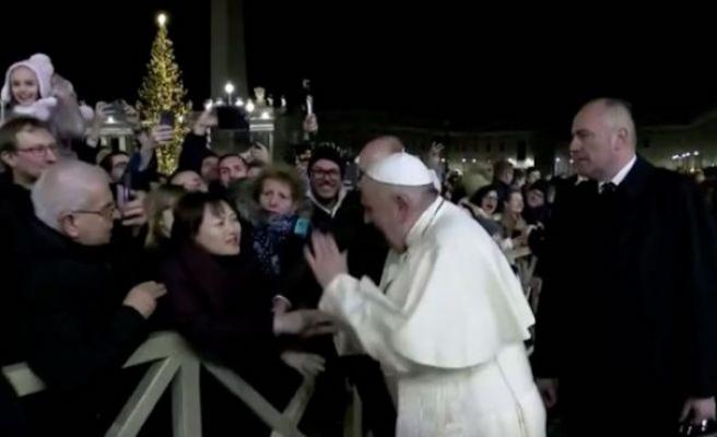 Yılbaşı kutlamalarında Papa'dan skandal