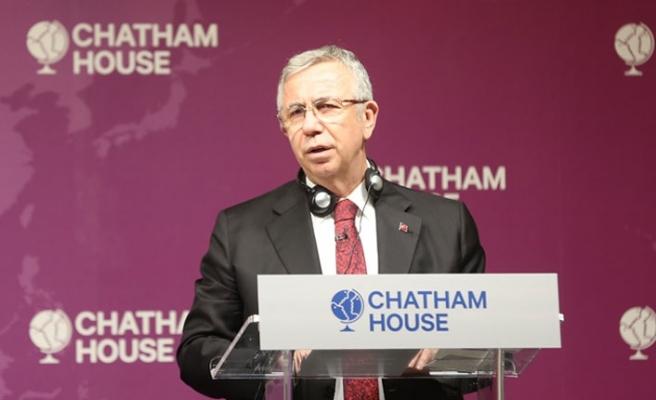 Mansur Yavaş, Londra'da Chatham House'da Konuştu