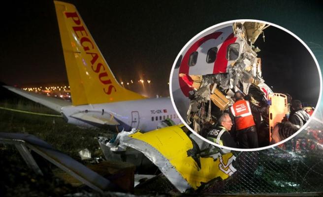 Sabiha Gökçen'de uçak pistten çıktı: 3 kişi hayatını kaybetti