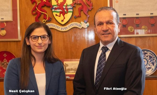 Ataoğlu, Enfield belediye Başkanı Çalışkan'la Görüştü