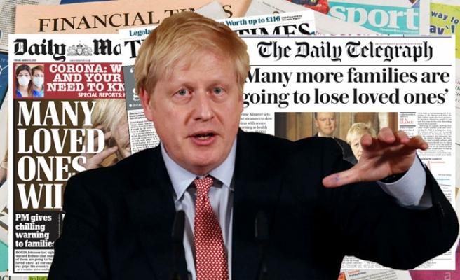 İngiltere'nin koronavirüs politikası gazetelere göre 'Bir kumar'