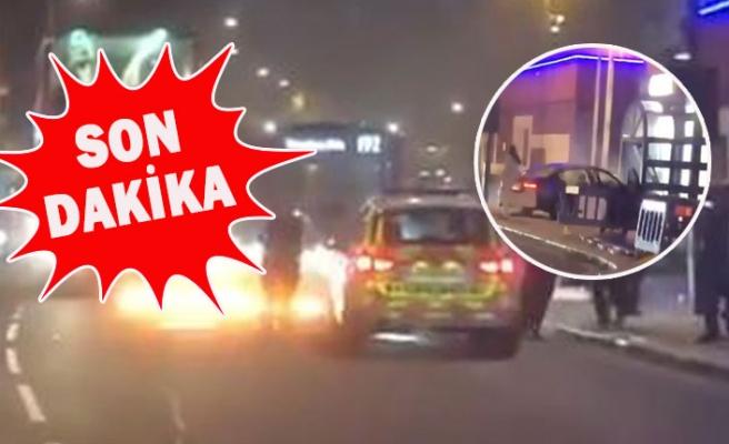 Londra'da Olaylı Gece: Bir Kişi Aracıyla Karakola Daldı!