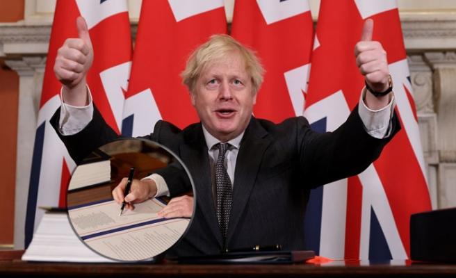Brexit'e, Boris Johnson'dan Son İmza