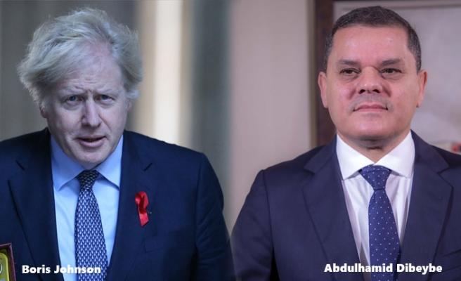 İngiltere Başbakanı Johnson, Libya Başbakanı Dibeybe İle Görüştü