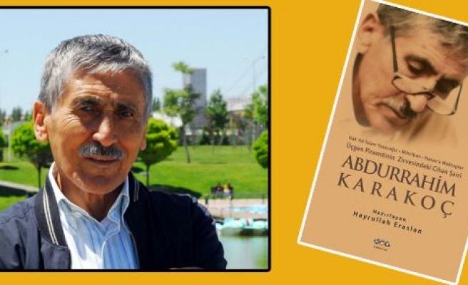 Abdurrahim Karakoç'un kitabı çıktı