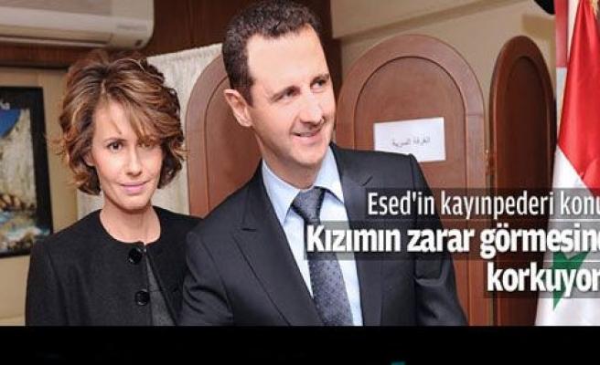 Esad\'ın kayınpederi kızının güvenliğinden endişeli