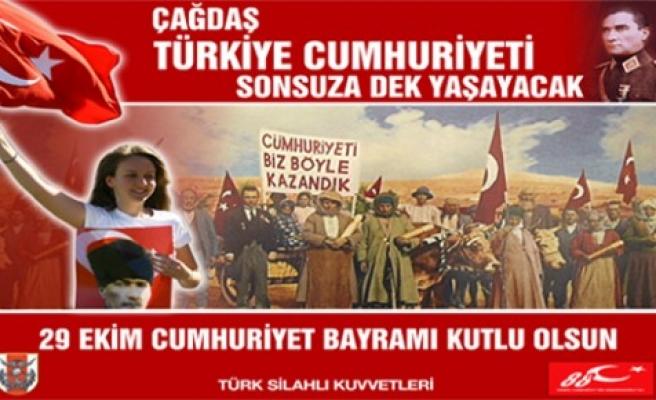 Genelkurmay'dan 29 Ekim'e kağnılı afiş