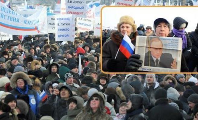 Kalabalık Putin\'i de şaşırttı
