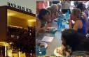 Avustralya'da bir kadın kek yeme yarışmasında...