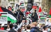 İsrail'in Saldırıları Londra'da Protesto Edildi