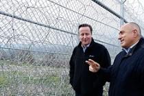 Cameron, Bulgaristan'da sınır teftişinde