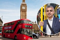 Londra'da bir saatlik otobüs bileti uygulaması