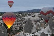 Kapadokya'da balon zamanı