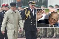Prens Philip yağmur altında veda etti