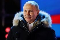 Seçimi kazanan Putin'den Kızıl Meydan'da 'Zafer' Konuşması