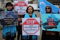 Uygur Kadınlar 'Bir Ses Bir Adım' İçin Meydanlarda