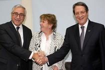 Kıbrıs'ta iki lider bir kez daha el sıkıştı