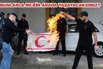 KKTC Bayrağını Rumlar Böyle Yaktılar!
