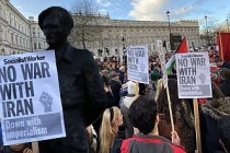 Londra'da savaş karşıtı gösteri