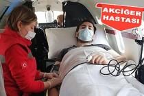 Akciğer hastası tıp öğrencisi ambulans uçakla Türkiye'ye getirildi
