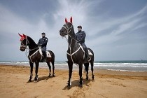 Atlı Jandarma Plaj Denetiminde