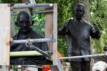 Aşırı Sağcı Gösteri Öncesi Gandhi ve Mandela Heykellerine Koruma
