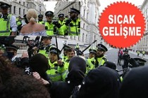 Londra'da Göstericiler Polisle Çatıştı