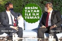 İngiltere Dışişleri Bakanı Raab, KKTC Cumhurbaşkanı Tatar'la Görüştü