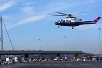Boğaziçi Köprüsü'ne helikopterle indi!