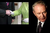 IRA'nın eski komutanı Kraliçe'nin davetinde