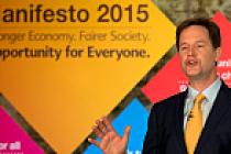 Nick Clegg seçim beyannamesini açıkladı