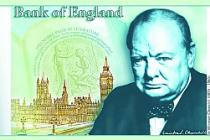 Winston Churchill, banknotun üzerinde