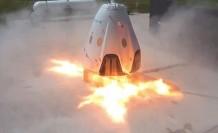 SpaceX'in personel taşıyıcı mekiği yer testinde yandı