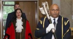 Saray Karakuş, Enfield Belediye Başkanlık Töreni