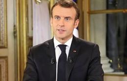 """Macron, 'Zenginlerin cumhurbaşkanı değilim' konuşmasını """"altın oda""""da yaptı"""
