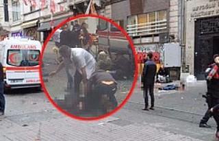 İstanbul'da İstiklal Caddesi'nde canlı...