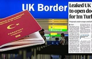 İngiltere'den, 1,5 milyon Türk'e vize...