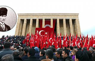 Büyük Önder Atatürk törenlerle anılıyor